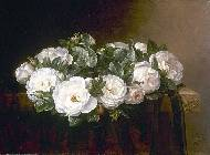 A wreath of white roses